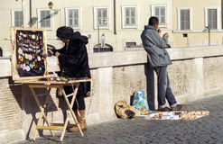 Street vendors in Rome Royalty Free Stock Image
