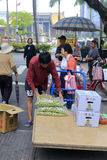 Street vendors selling fruit at the roadside Royalty Free Stock Photography