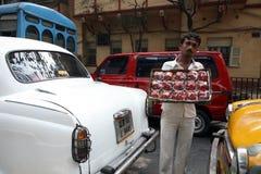 Street vendors selling strawberries, Kolkata Royalty Free Stock Photography