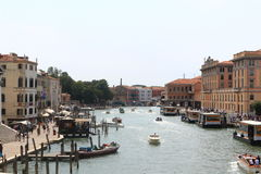 Street in Venice. Beautiful street and channel in Venice, Italy Royalty Free Stock Image