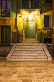 Street in Venice at Night Royalty Free Stock Photography