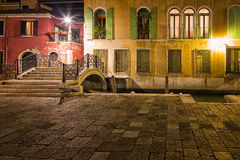 Street in Venice at Night Stock Image