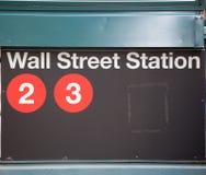 Street-Verkehrsschild Börse von New York Lizenzfreie Stockbilder