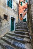 Street in Vernazza village Royalty Free Stock Images