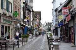 Street in Vernon, France Royalty Free Stock Image