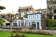 Street in Vevey, Switzerland Royalty Free Stock Images