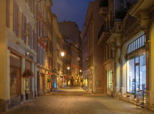Street in Vevey, Switzerland (HDR) Royalty Free Stock Images