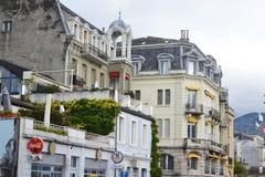 Street in Vevey, Switzerland Stock Photography