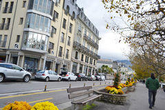 Street in Vevey, Switzerland Stock Image