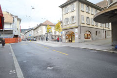 Street in Vevey, Switzerland Stock Photo