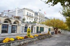 Street in Vevey, Switzerland Royalty Free Stock Image