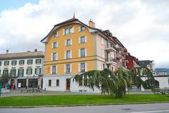 Street in Vevey, Switzerland Royalty Free Stock Photos