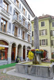 Street in Vevey, Switzerland Royalty Free Stock Photography