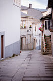Street in Viana do Bolo (Spain) stock images