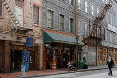 A street of Vieux Carre in New Orleans Royalty Free Stock Photography