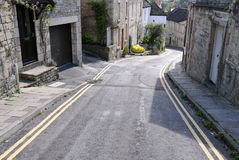 Street View. General Street View in a Typical English Town - Namely Bradford on Avon in Wiltshire Stock Photos