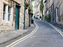 Street View. General Street View in a Typical English Town - Namely Bradford on Avon in Wiltshire Royalty Free Stock Image