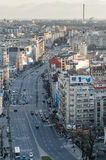 Street view. Top view of a boulevard in Bucharest stock photography