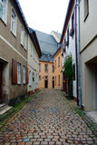 Street view. Old narrow street in Glauchau, Germany Stock Images