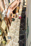 Street view from above in Antibes old town Royalty Free Stock Image