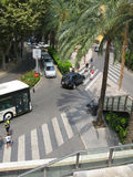 Street view from above Royalty Free Stock Photo