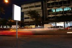 Street view advertising. Blank street view advertising board Stock Photo