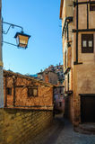 Street view in Albarracin, Spain Royalty Free Stock Image