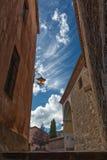 Street view in Albarracin, Spain Stock Image