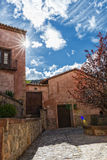 Street view in Albarracin, Spain Stock Images