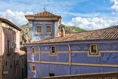 Street view in Albarracin, Spain Royalty Free Stock Image