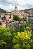 Street view in Albarracin, Spain Royalty Free Stock Photography