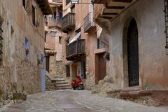 Street view of albarracin, spain Royalty Free Stock Image