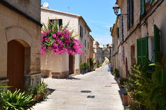 Street view from Alcudia on Mallorca Royalty Free Stock Images