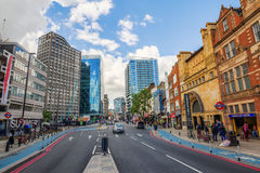 Street view in Aldgate, London, UK Royalty Free Stock Image