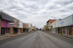 Street view of Alice Texas. January 11, 2016 Alice, Texas, USA: street view of the oil field servicing town Royalty Free Stock Photos