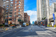 Street view along the Hudson River Greenway. Manhattan, New York, USA. Stock Images
