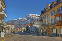 Street view of the Alps Stock Photography