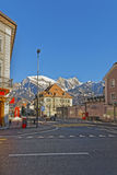 Street view on the Alps in City of Bad Ragaz Royalty Free Stock Photography