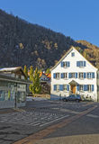 Street view on the Alps in Town of Bad Ragaz Stock Photos