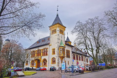 Street view of Ancient Building in Solothurn Old Town Royalty Free Stock Photography