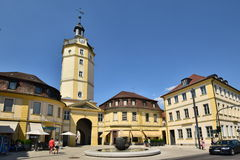 Street view in Ansbach, Bavaria, Germany Royalty Free Stock Image