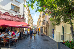 Street view in Antibes old town, France Royalty Free Stock Photo