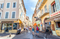 Street view in Antibes old town, France Royalty Free Stock Image