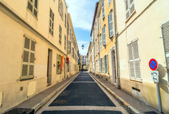 Street view in Antibes old town, France Stock Image