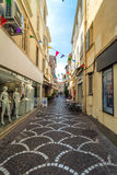 Street view in Antibes old town, France Stock Photos