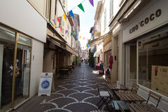 Street view in Antibes old town, France Stock Photography