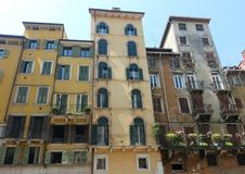 Street view of apartments. A street view of apartments in Verona, Italy Stock Image