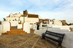 Street view of Arcos de la Frontera. Spain stock photos