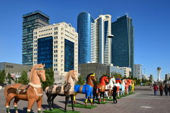 A street view in Astana Royalty Free Stock Photography