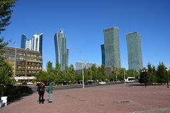 A street view in Astana Stock Photography
